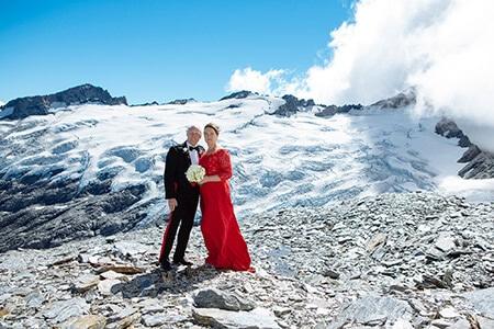 Isobel Glacier wedding, New Zealand Wedding