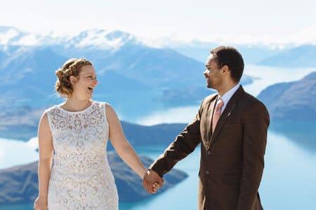 Winter wedding wanaka