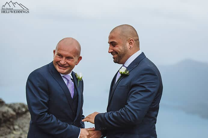 Same Sex wedding ceremony, Same Sex Wedding Queenstown, rainy heli wedding,Destination  samesex wedding