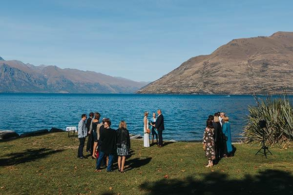 Queenstown lakeside wedding photography and wedding packages
