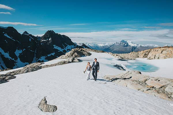 Heli wedding packages at Glacier Burn