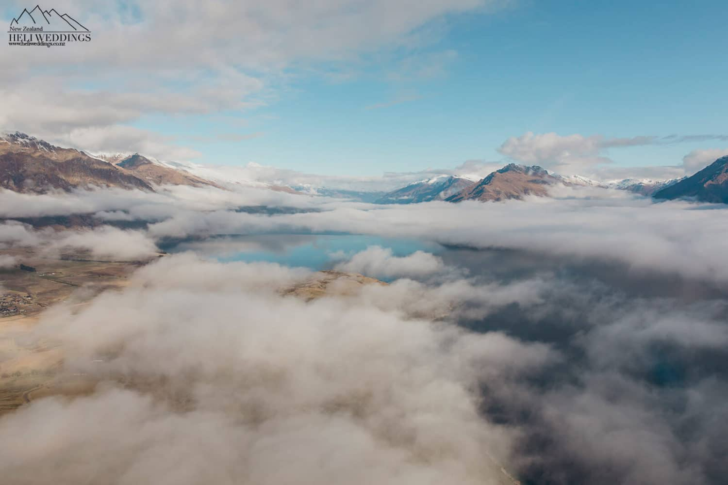 Clouds over the lake in Queenstown