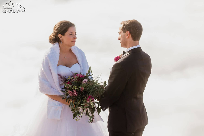 Wedding ceremony on Cecil Peak Ridge in Queenstown