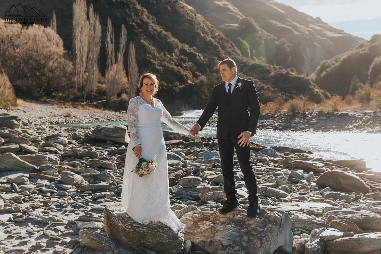 wedding photos by Shotover river