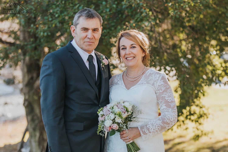 Bride and groom in Queenstown