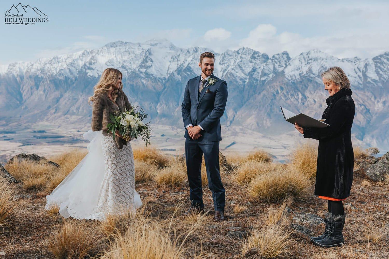 Mountain wedding ceremony in Queenstown New Zealand