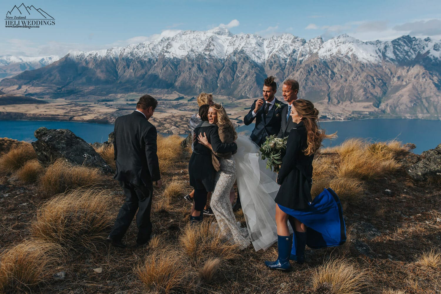 Mountain wedding ceremony in Queenstown New Zealand