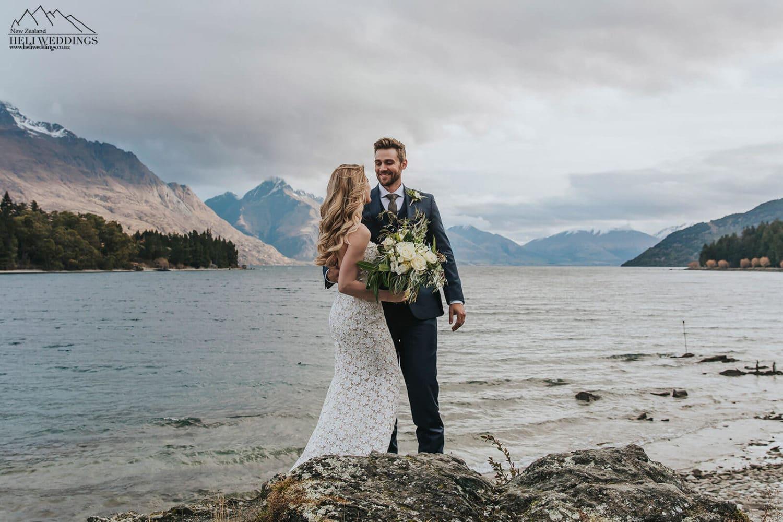 Lakefront wedding in Queenstown