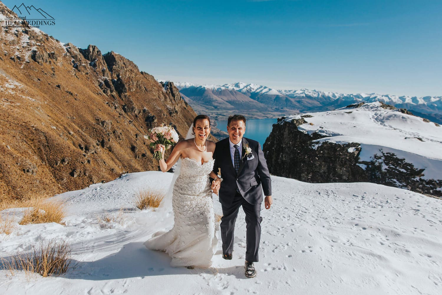 Winter wedding on The Ledge in Queenstown