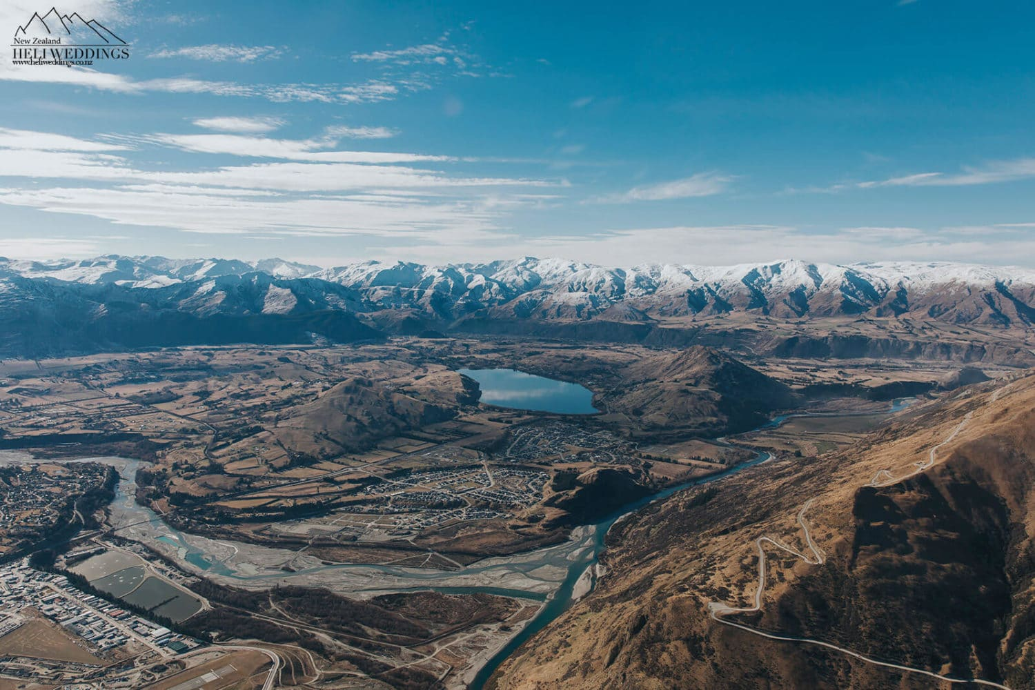 Aerial photo of Lake Hayes Estate and Shotover country