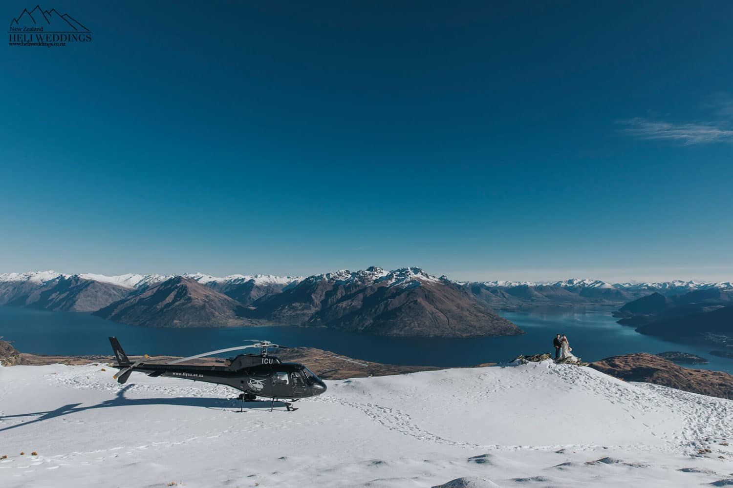 Helicopter wedding on The Remarkables in Queenstown