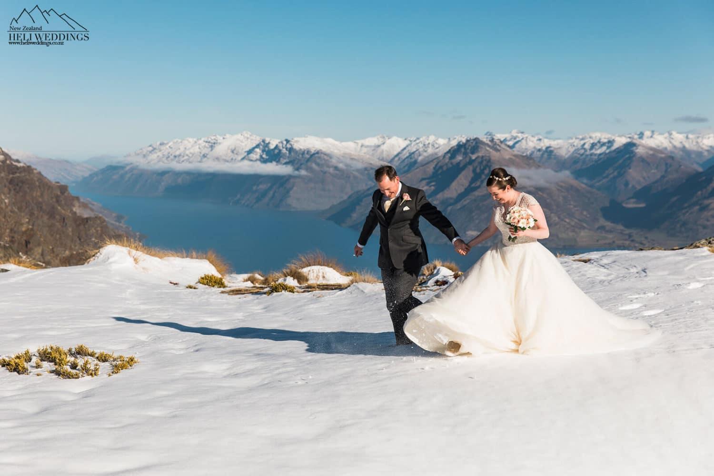 Winter wedding in Queenstown New Zealand, NZ Wedding packages