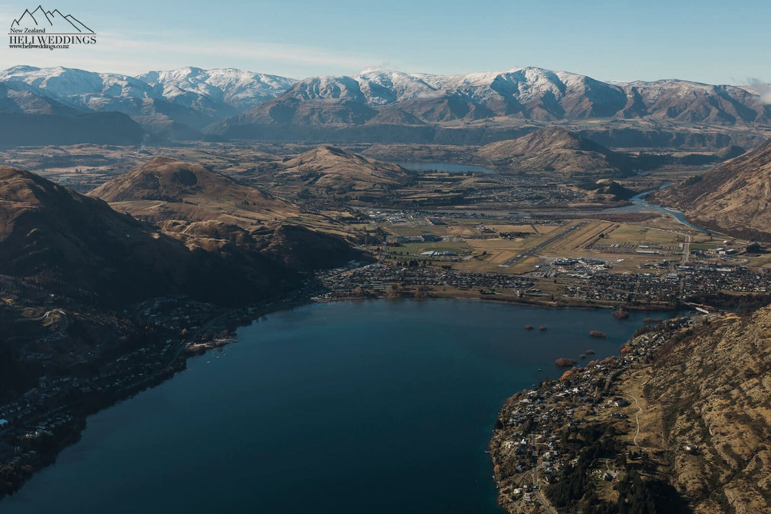 Aerial photography of Queenstown