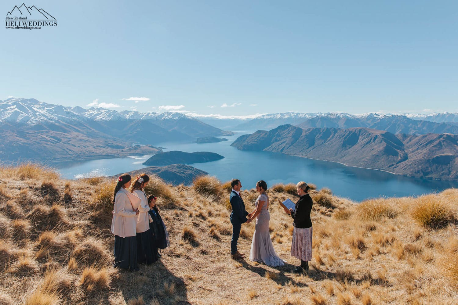 Wanaka Wedding ceremony on Coromandel Peak
