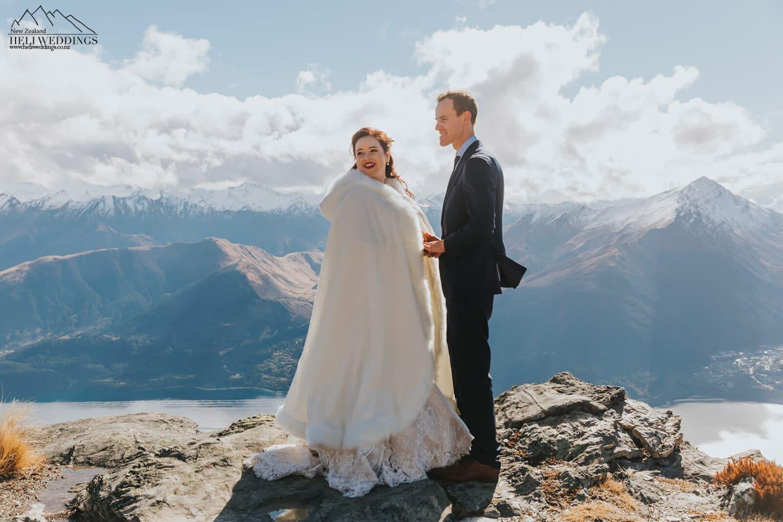 Mountain Wedding ceremony in New Zealand