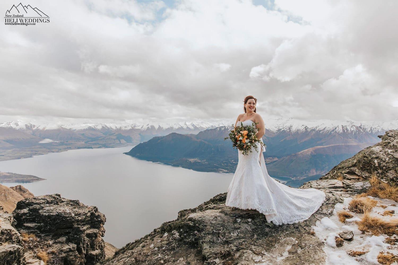 Winter Wedding in New Zealand, Queenstown mountain wedding packages