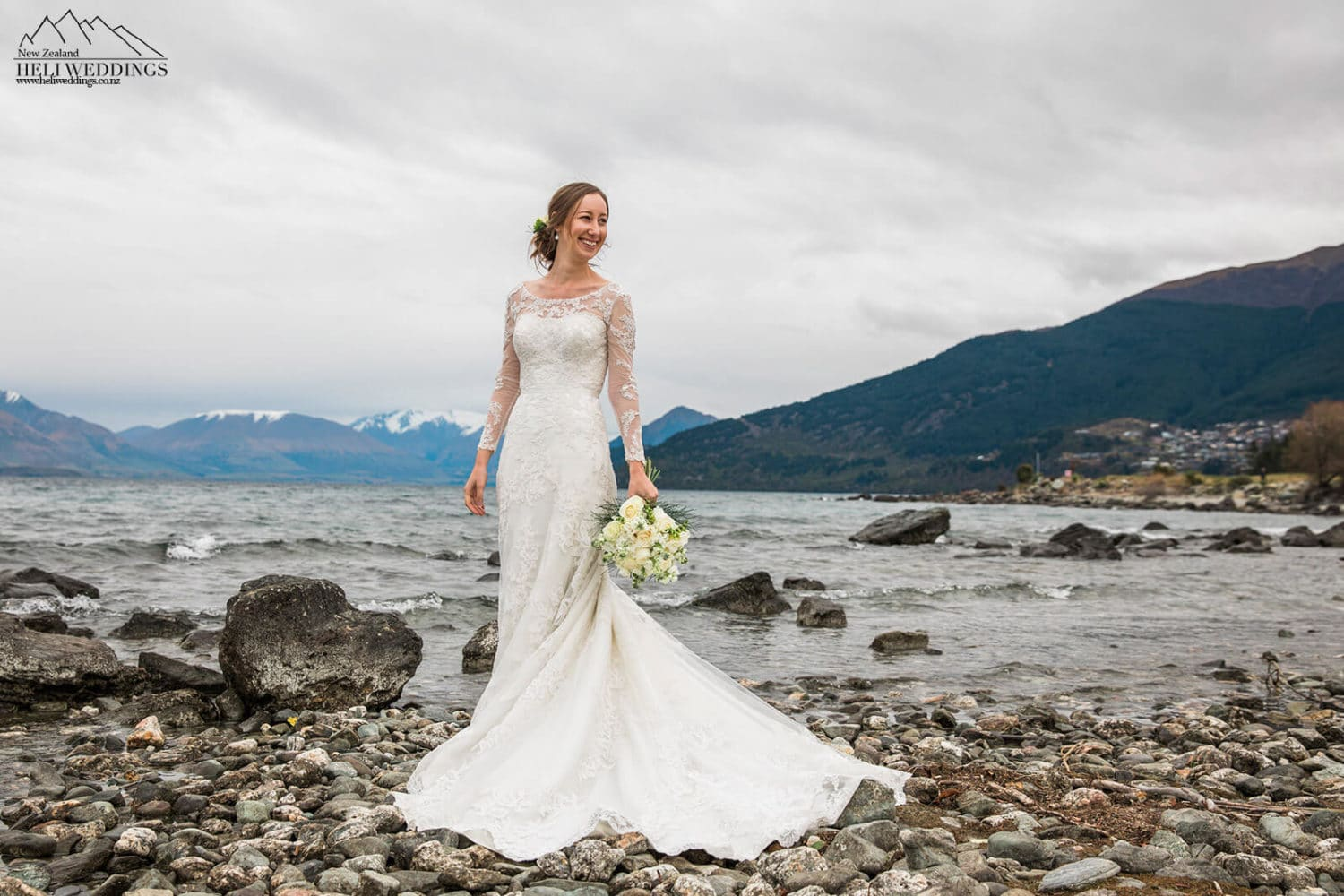 Queenstown Winter Wedding by the lake