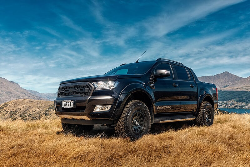 Ranger raptor, Black ford Ranger Wildtrak Wedding car Queenstown