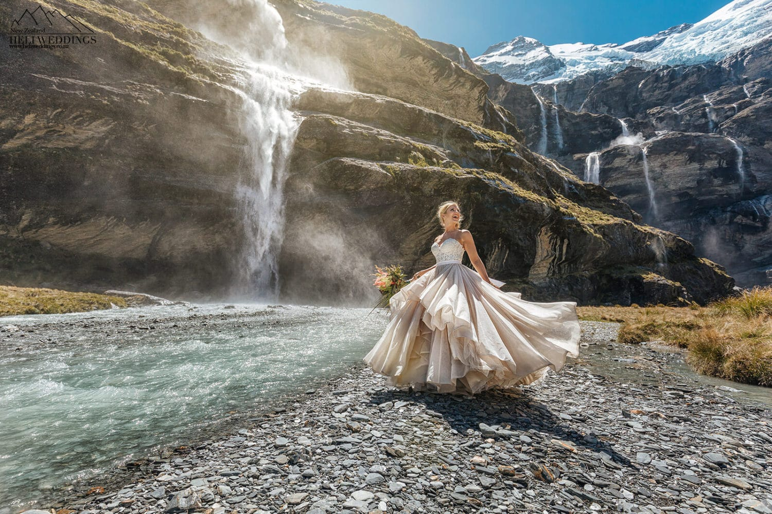Heli Wedding at Earnslaw Burn Queenstown