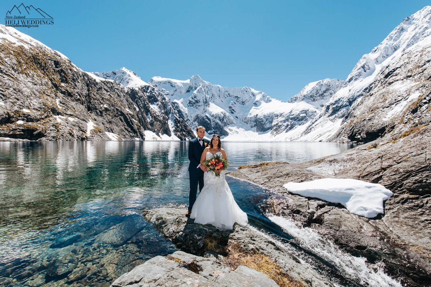 Heli Wedding at Lake Erskine Queenstown