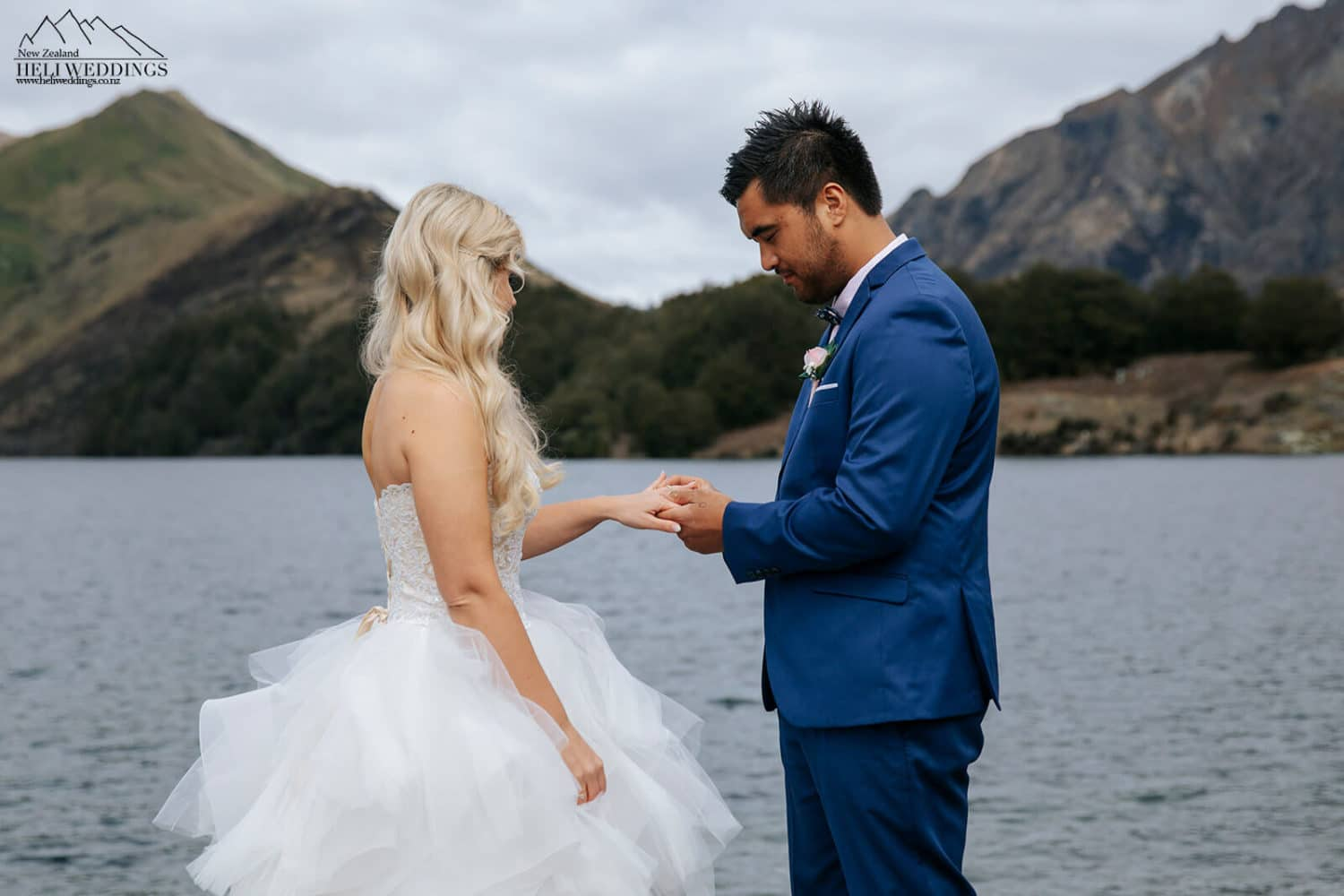 Wedding ceremony and wedding photography at Moke Lake Queenstown