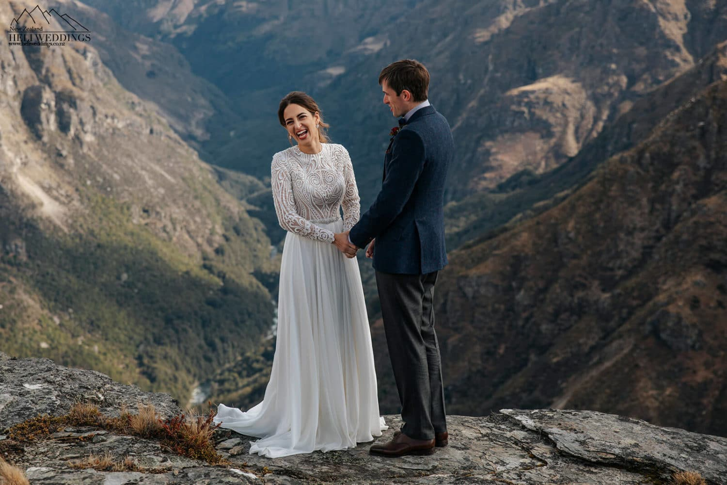 Mountain wedding ceremony in Queenstown