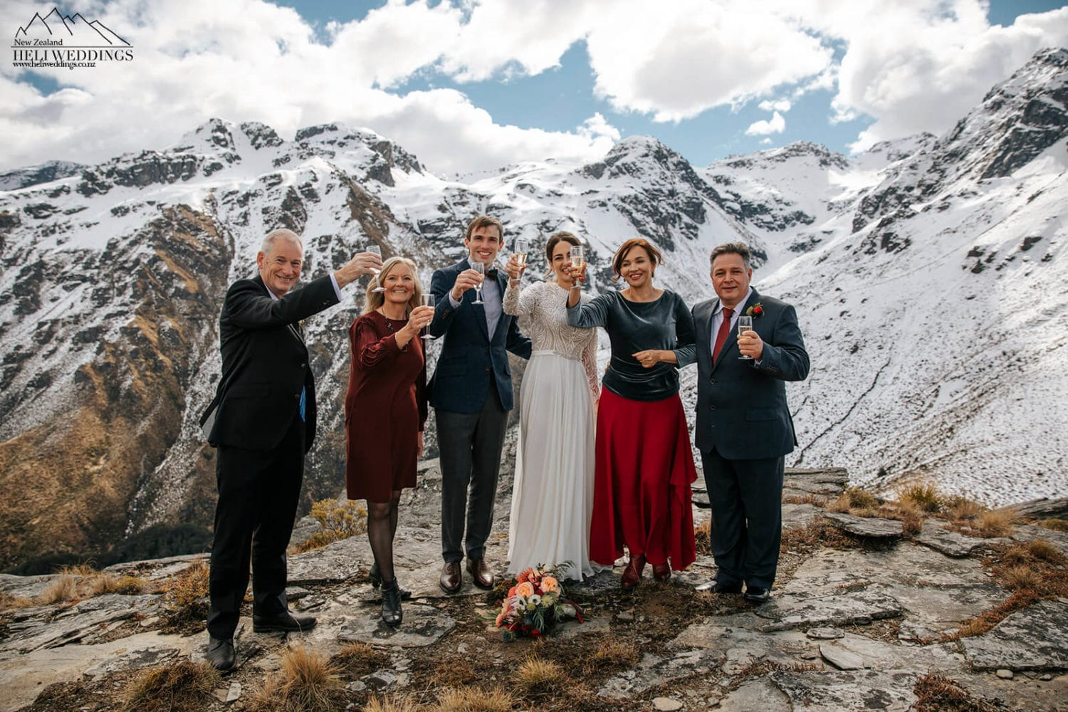 Small Queenstown Heli wedding