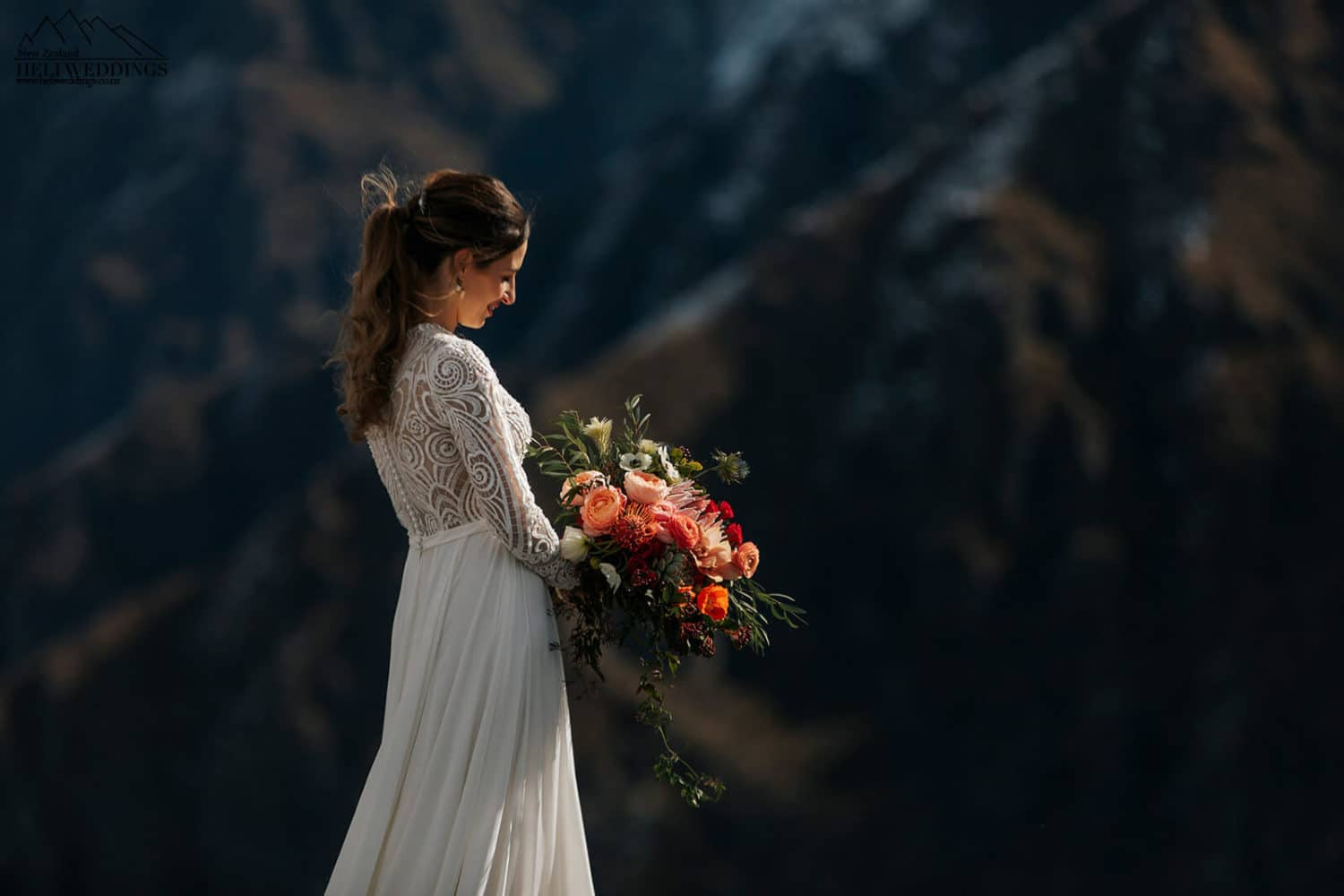 Wedding bride and flowers
