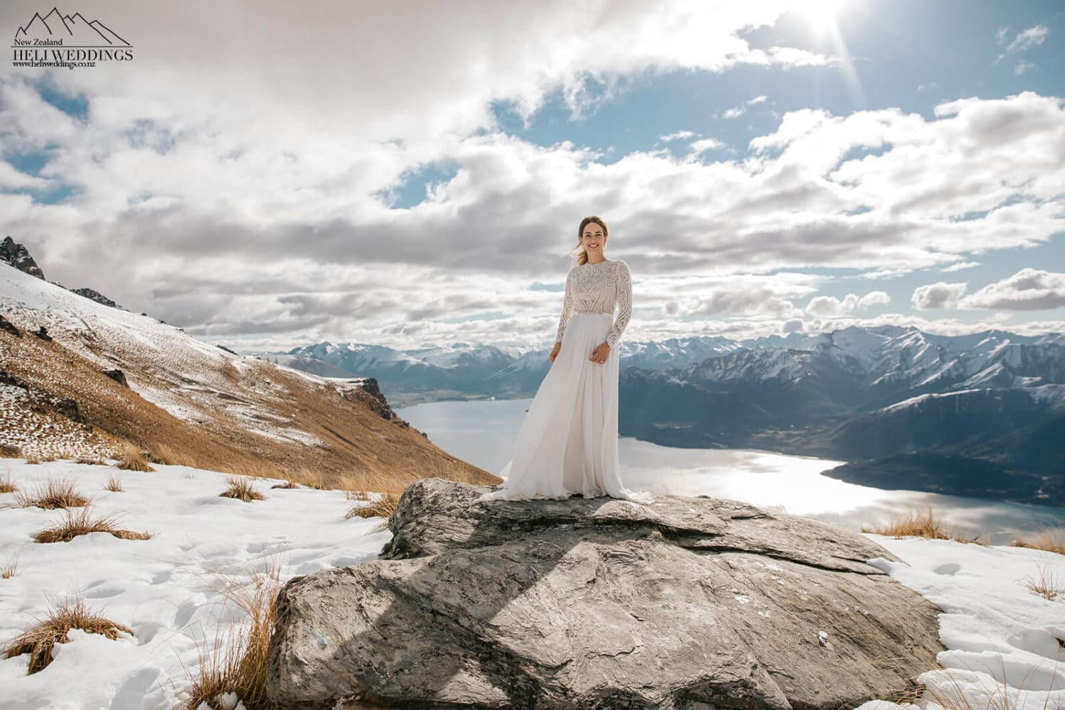 Queenstown Helicopter wedding in the snow