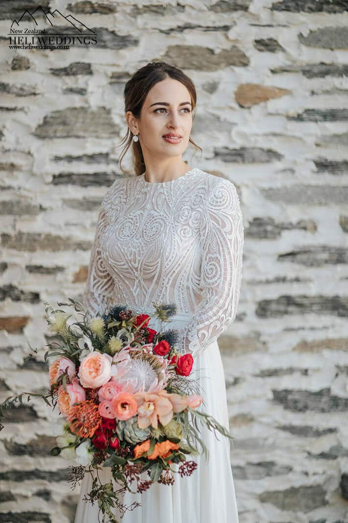 beautiful bride at Queenstown destination wedding