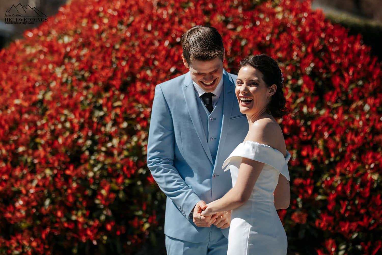 First Look at Wanaka Wedding
