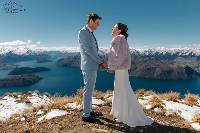 Mountain Wedding ceremony on Coromandel Peak Wanaka