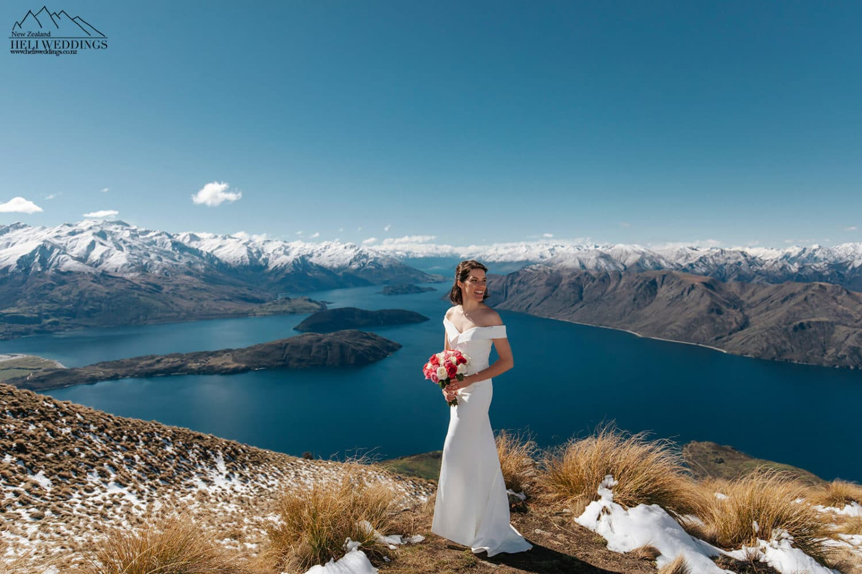 Wedding photography at Coromandel Peak, Mt Roy Wanaka