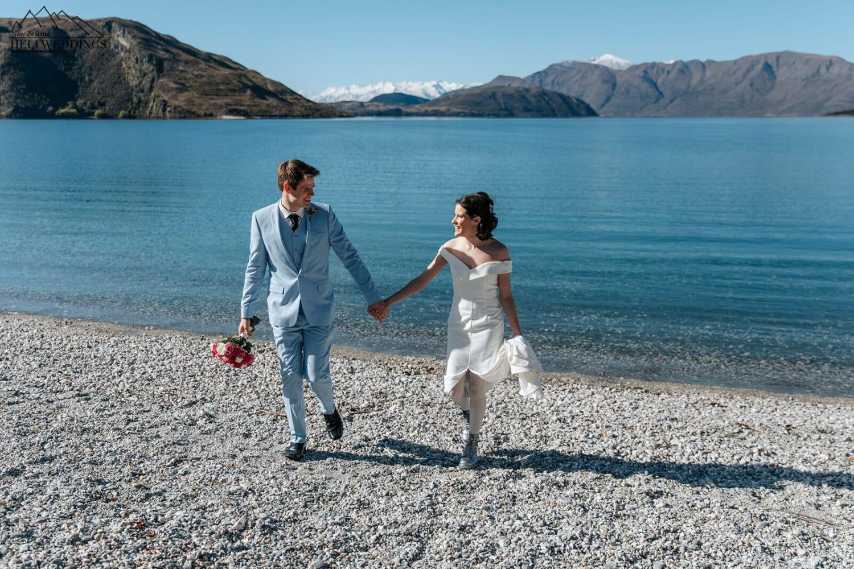 Wedding photography at Glendhu Bay