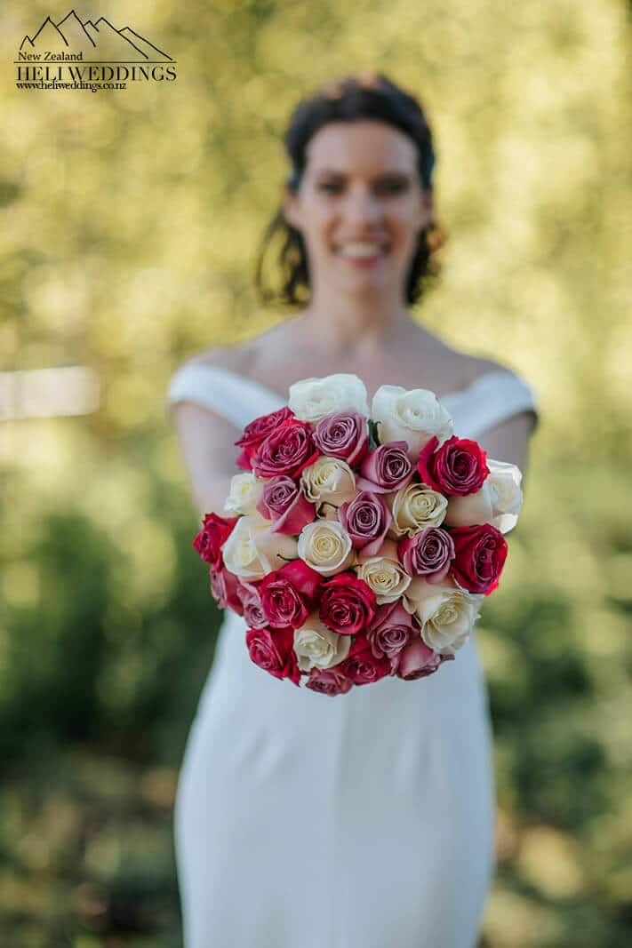 Wedding flowers at Wanaka Wedding