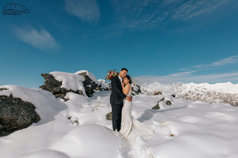 Cecil Peak Winter Heli Wedding
