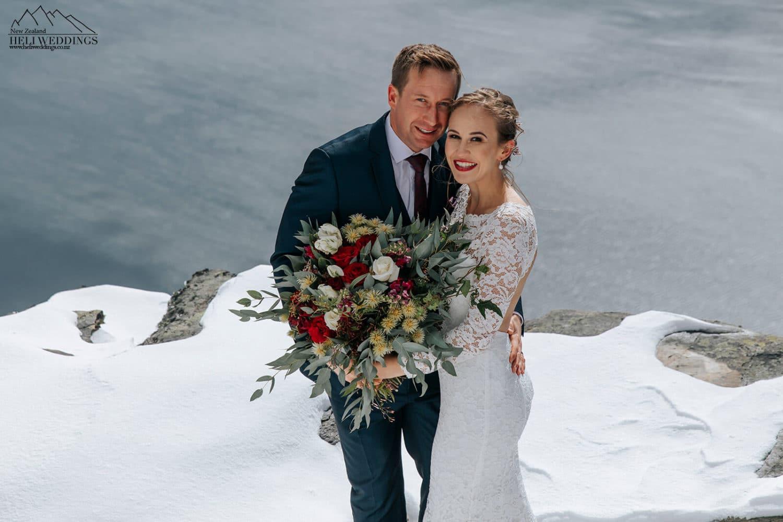 Queenstown elopement wedding in the snow