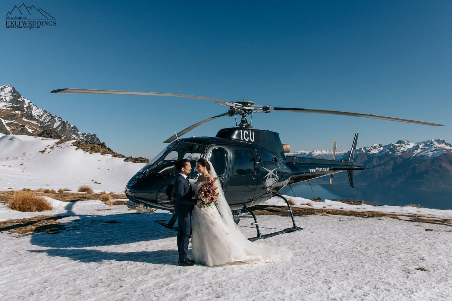 Mountain Wedding by Helicopter in Queenstown