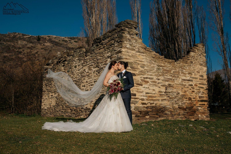 Bride & Groom at Queenstown Wedding