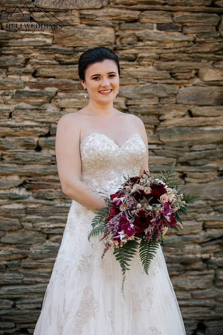 Bride at Queenstown Wedding