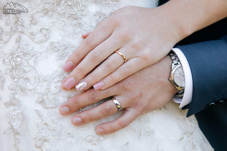 Ring shot at Queeenstown wedding