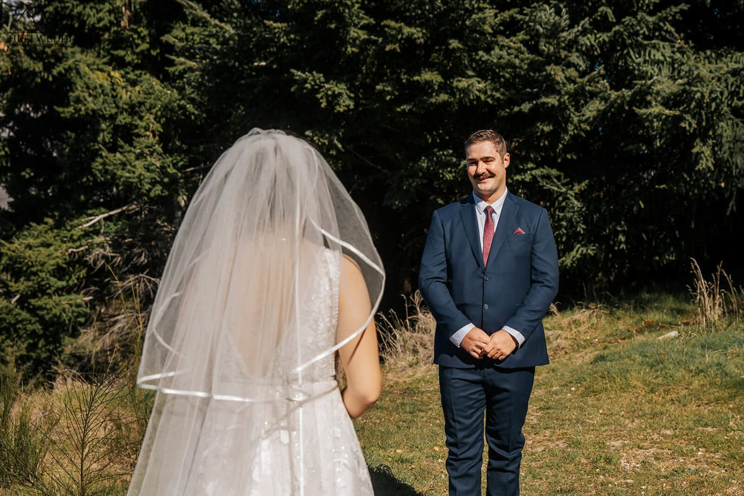 First Look at Queenstown Wedding