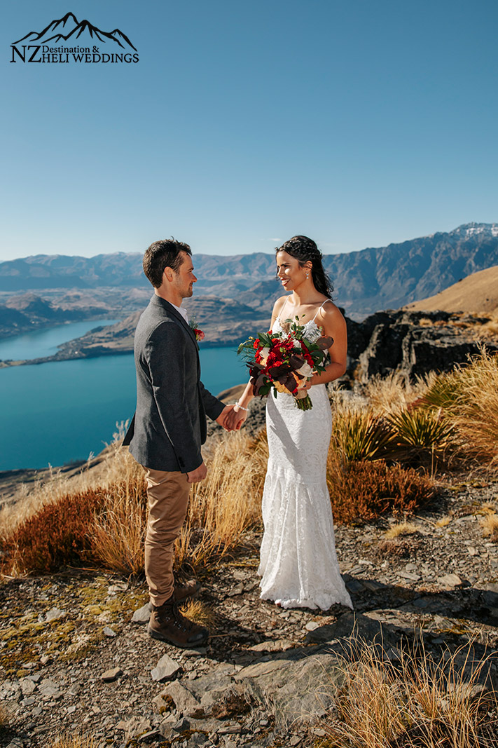 Wedding ceremony on The Ledge in Queenstown