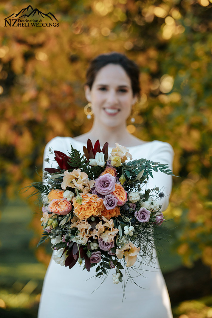 Autumn wedding bouquet New Zealand