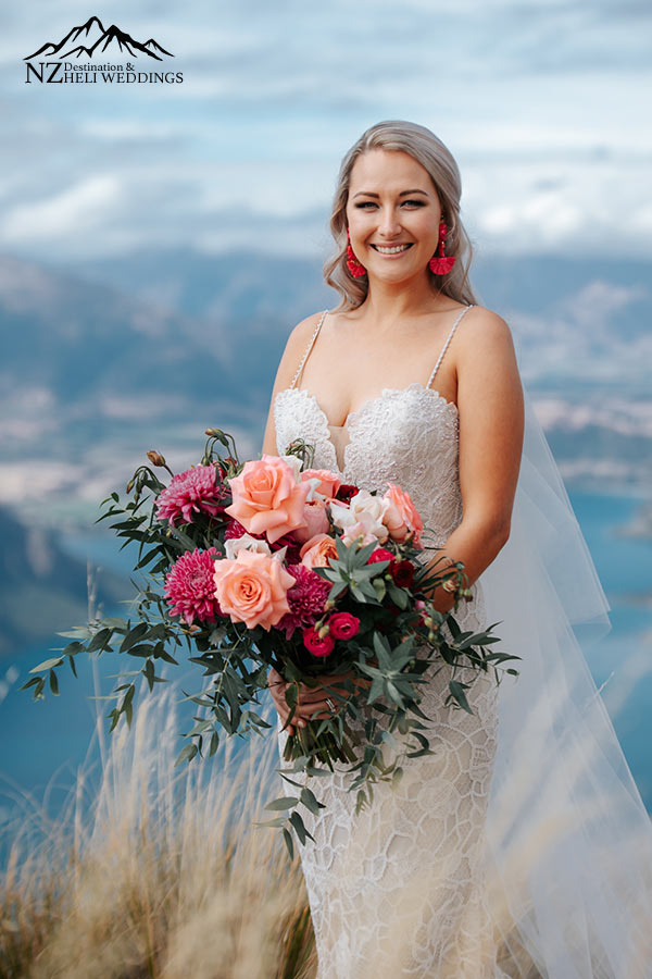 Queenstown Wedding flowers for Heli Weddings