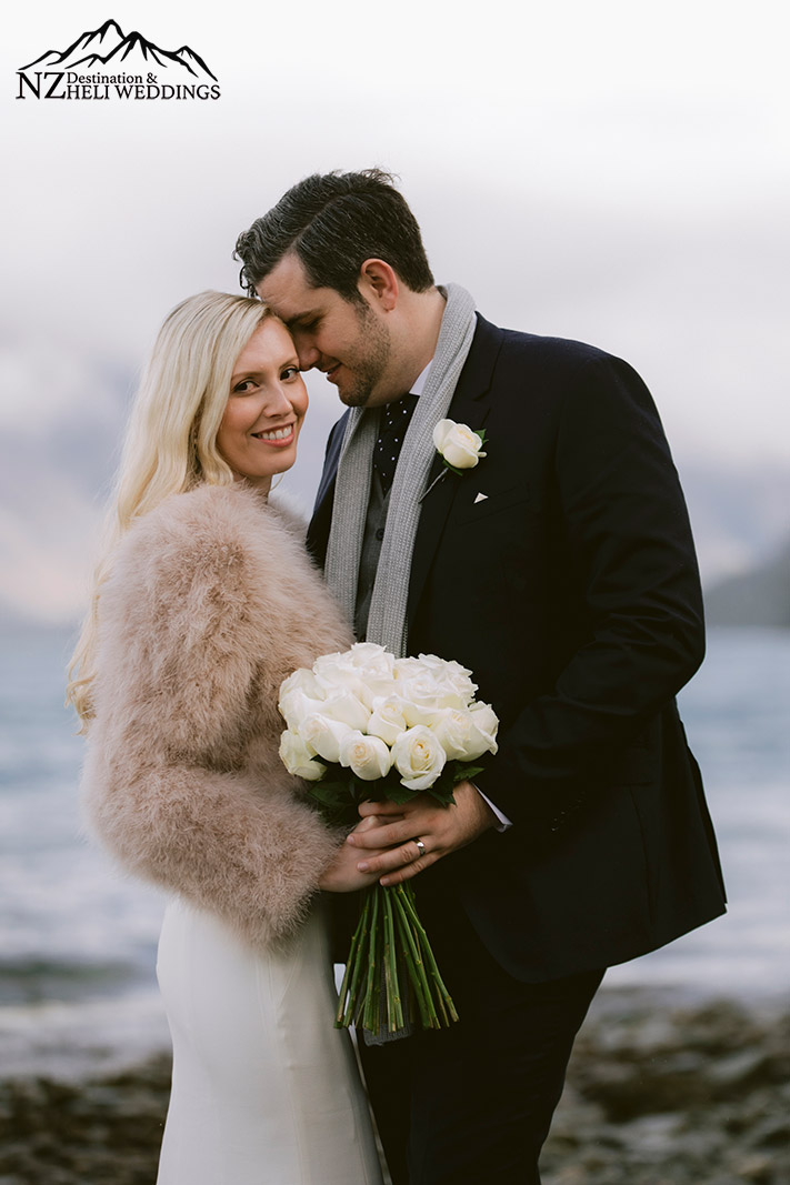 Rainy and moody Queenstown wedding