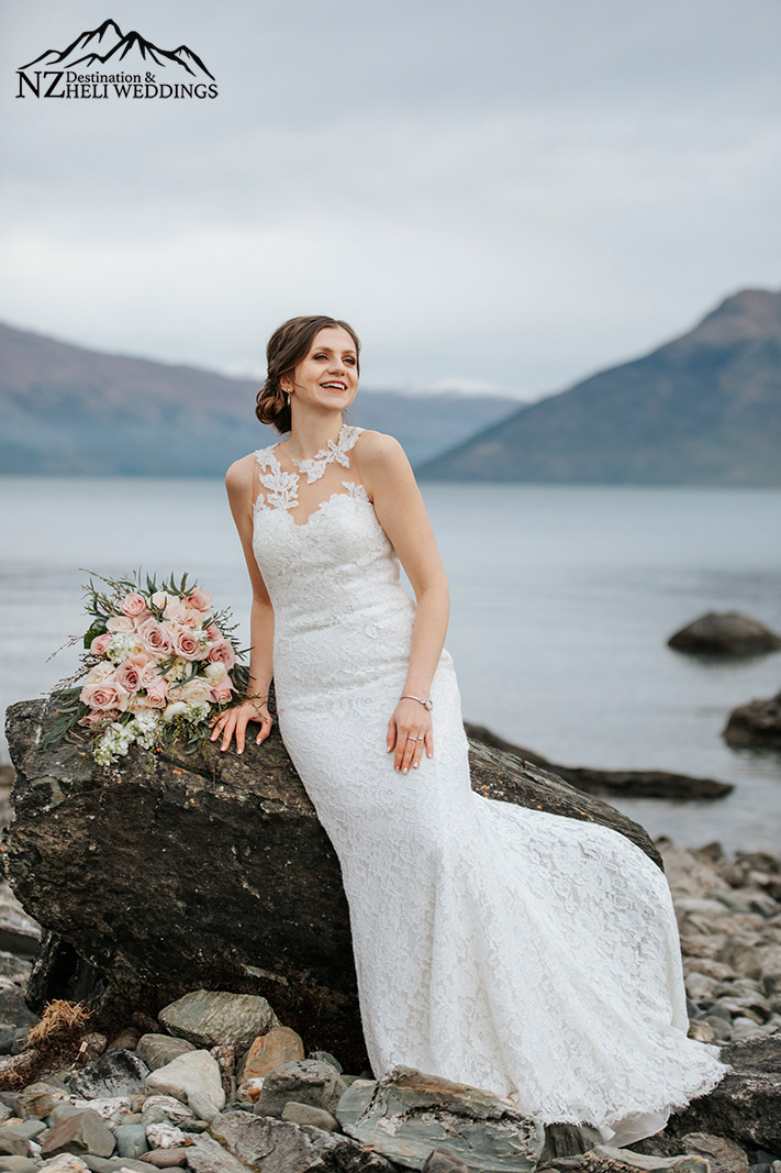 Lakeside wedding photography in Queenstown