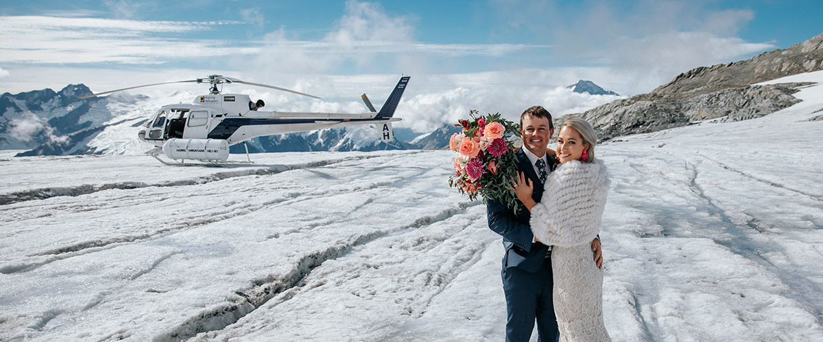 Glacier wedding packages in Wanaka