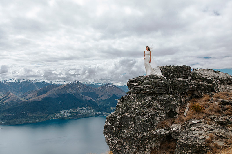 New Zealand Elopement Heli Wedding on The Ridge in Queenstown