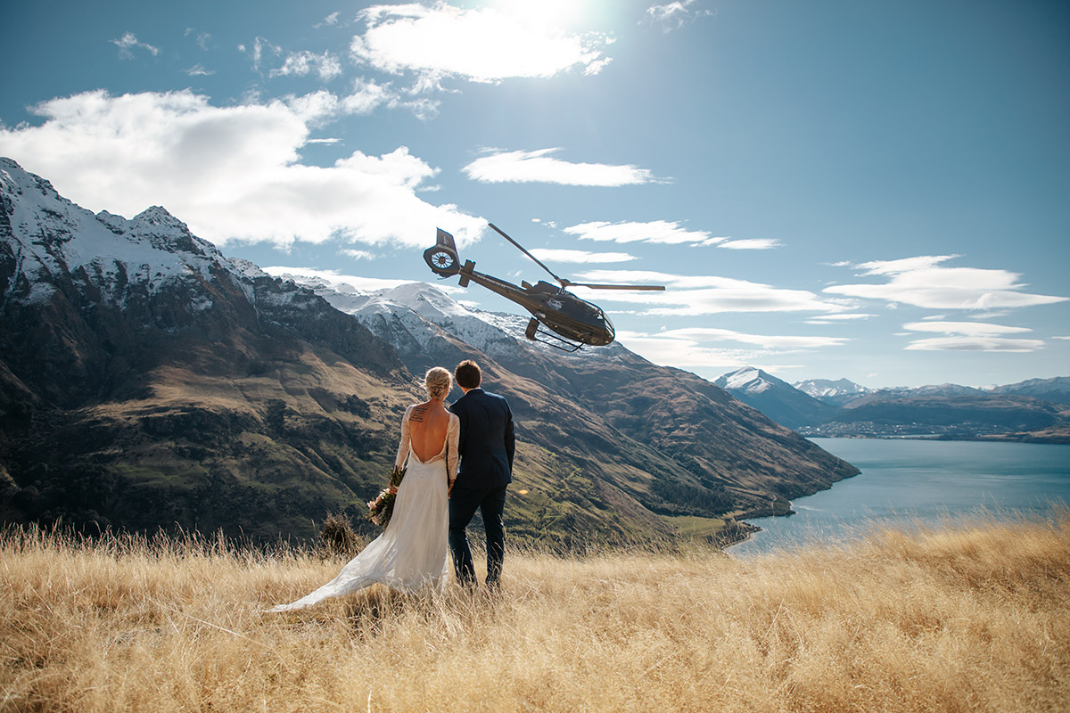 Bayonet Peak Heli Wedding package in Queenstown New Zealand